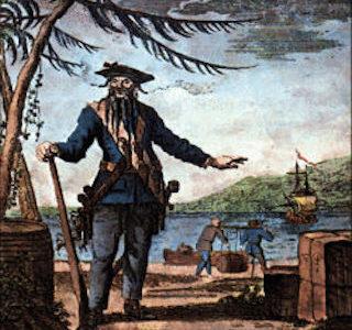 ワンピースネタバレ 黒ひげ海賊団とティーチのモデルは実在する?他の船員は。