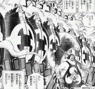 ワンピースネタバレ考察957話最新話七武海VS海軍でベガパンクの新兵器投入?