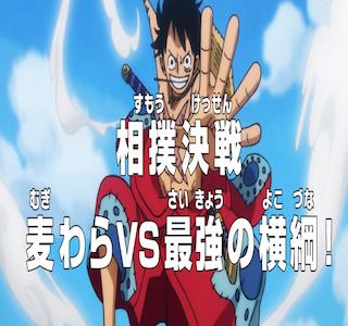 ワンピースネタバレアニメ903話最新話ルフィVS横綱浦島!ギガントつっぱり炸裂